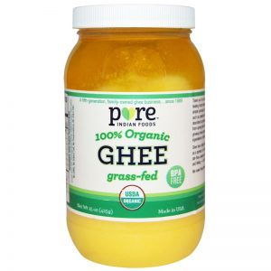 Pure Indian Foods, Ghee, 100% Organic Grass-Fed, 15 oz (425 g) Pure Indian Foods, Ghee, 100% Organic Grass-Fed, 15 oz (425 g) Pure Indian Foods, Ghee, 100% Organic Grass-Fed